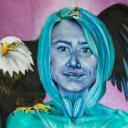 Paula sells paintings online