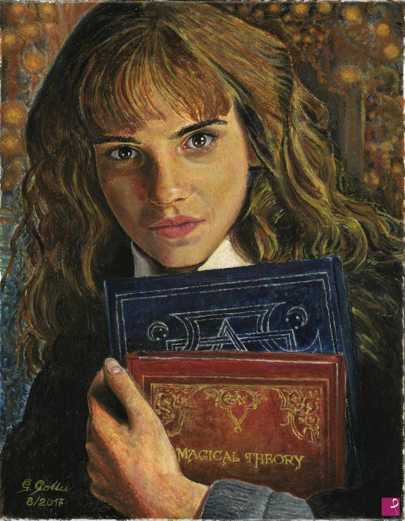 Disponibile Painting Emma Watson Hermione Granger Graziano Cossu Pitturiamo