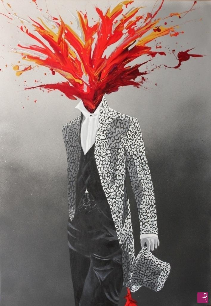 venduto su PitturiAmo painting - HEART AND MIND - Maria