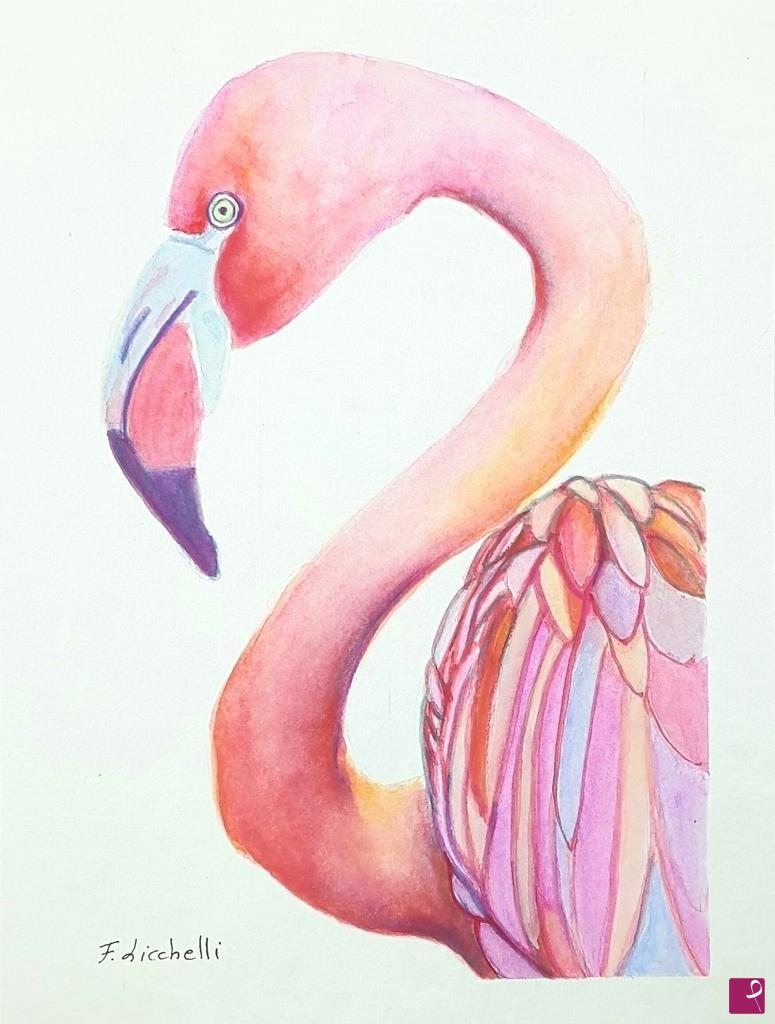 Pink Flamingo By Francesca Licchelli Paintings On Online