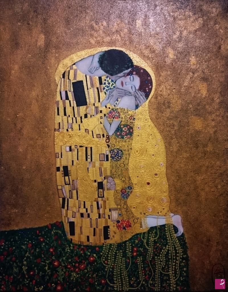 Sale Painting The Kiss Klimt Jade Pitturiamo