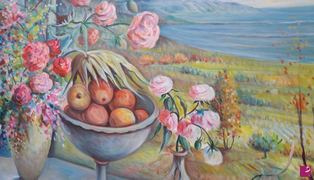 Vendita quadro - 21 - paesaggio con fiori e frutta - Giuseppe ...