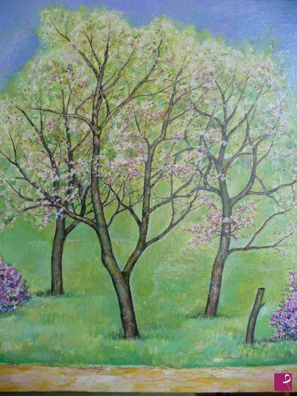 Vendita quadro alberi in fiore angelo g stenta for Alberi in vendita