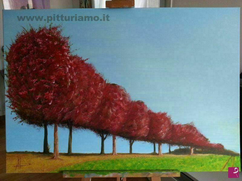 Vendita quadro alberi in prospettiva luigi amoruso for Alberi in vendita