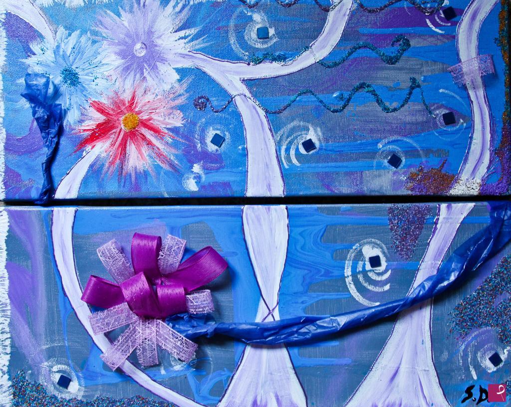 Vendita quadro artificio floreale anomis creative pitturiamo