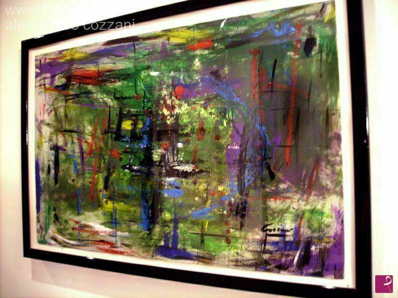 """Vendita quadro   """"astratto de color"""" cozzani dipinto olio acrilico ..."""