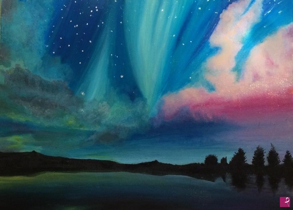 Vendita quadro aurora boreale cec pitturiamo for Sfondi aurora boreale