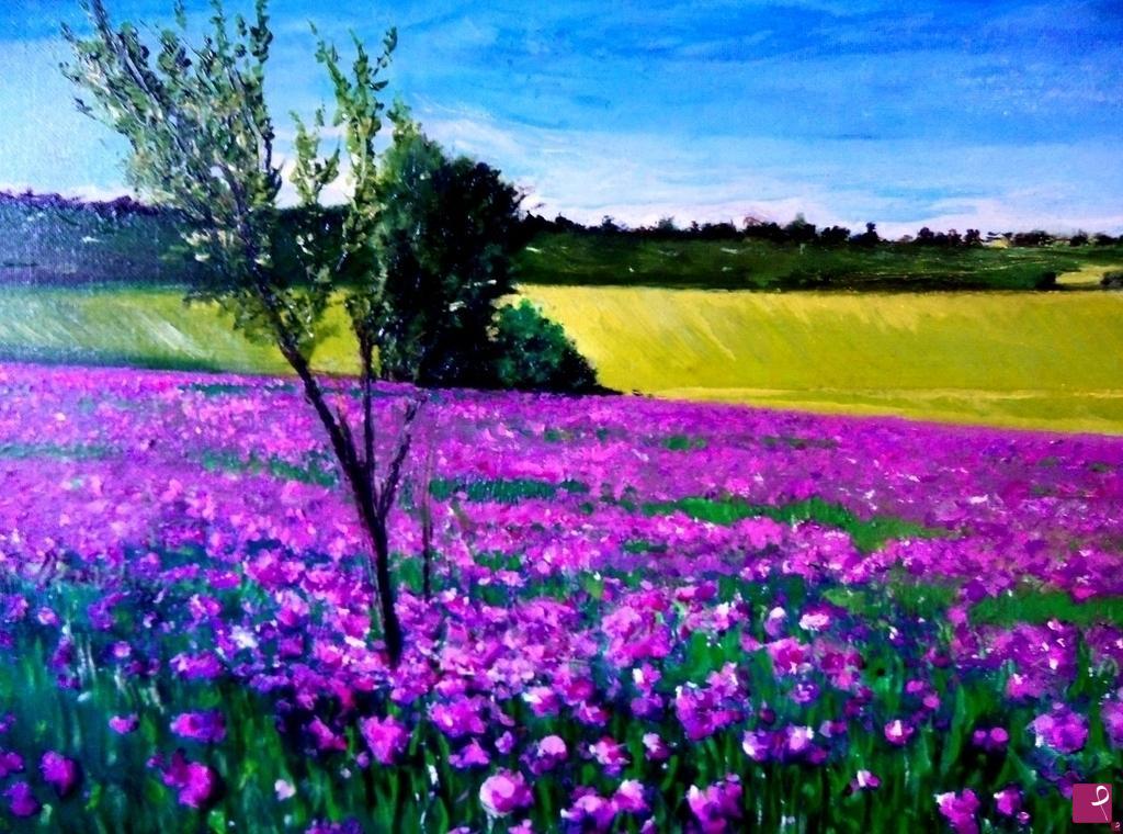 Vendita quadro - Campo di fiori - Alexandre Saturnini | PitturiAmo®