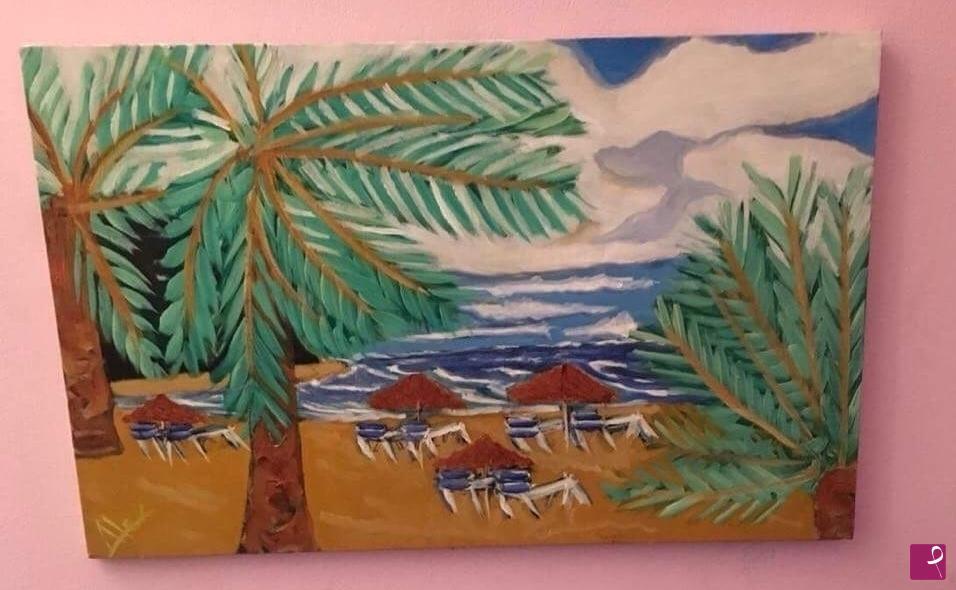 Vendita quadro canarian influences playa des las teresitas