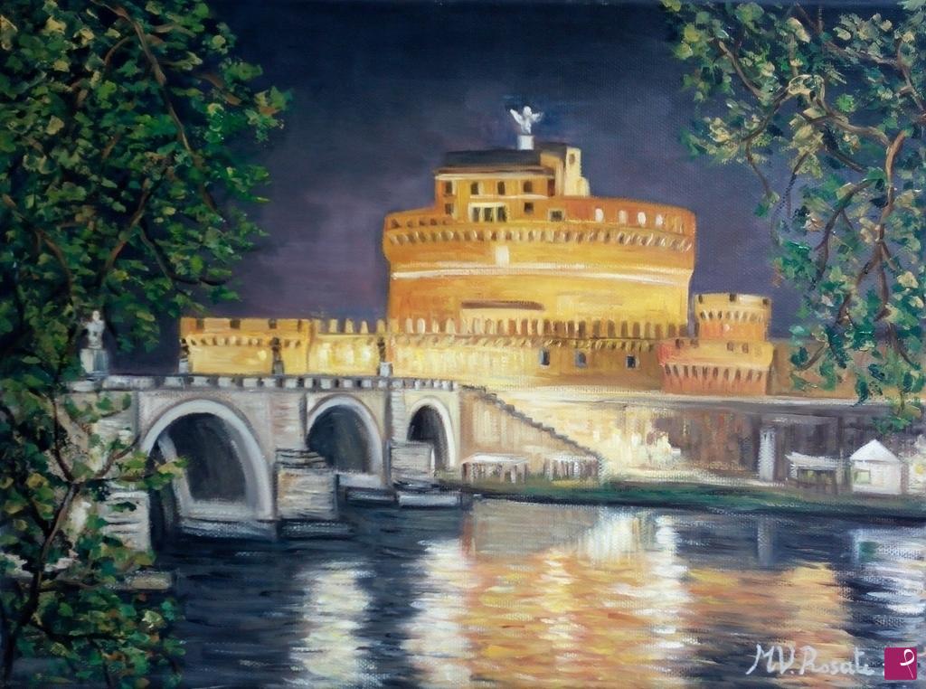 Quadri Moderni Roma Vendita disponibile quadro - castel sant' angelo, roma cm 30x40