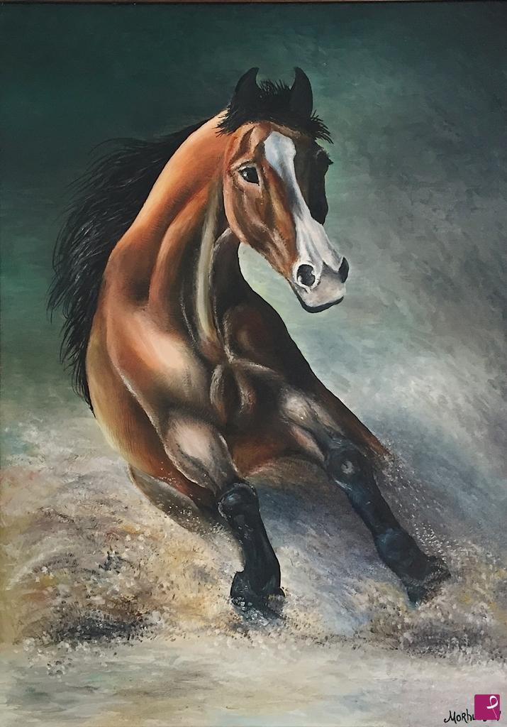 Vendita quadro - Cavallo in corsa - Svitlana Morhun | PitturiAmo®