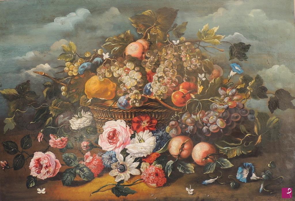 Vendita quadro - Cesto di frutta con fiori - Elisa Marianini ...