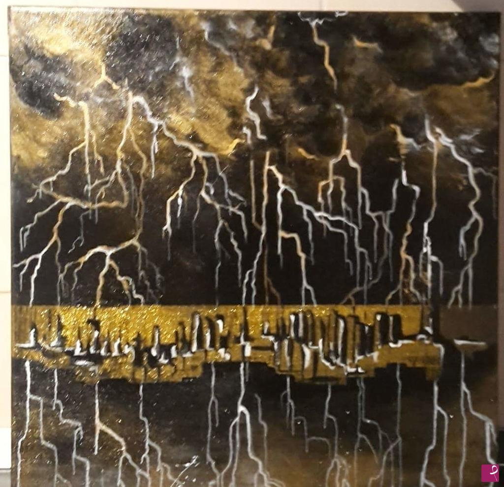 66606c0c95df Vendita quadro - Città di sera - Laura Stoppani