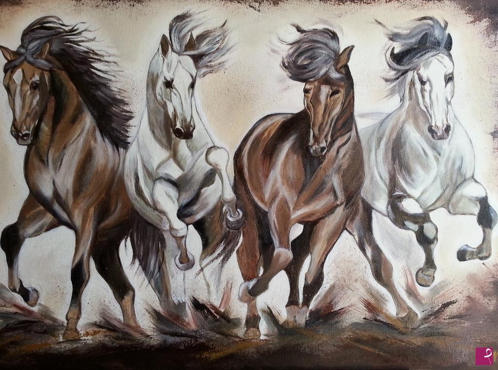 Vendita quadro - Corsa di cavalli - Elena Novikova | PitturiAmo®