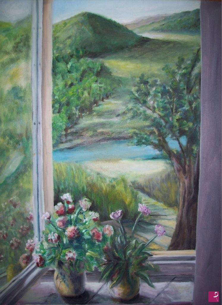 Vendita quadro dalla finestra fasoli pitturiamo - Quadro finestra ...