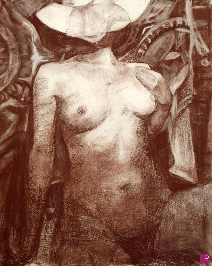 Vendita quadro - Disegno di nudo - Lina Aminov | PitturiAmo®