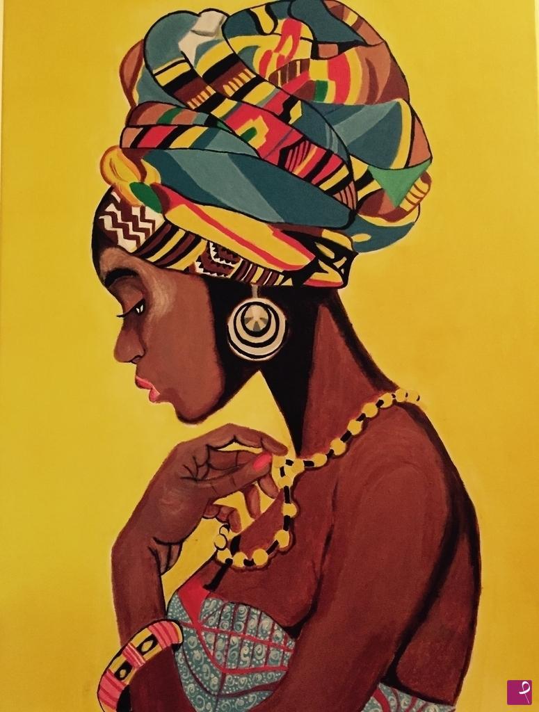 disponibile quadro - Donna Africana - Rosario Rutigliano