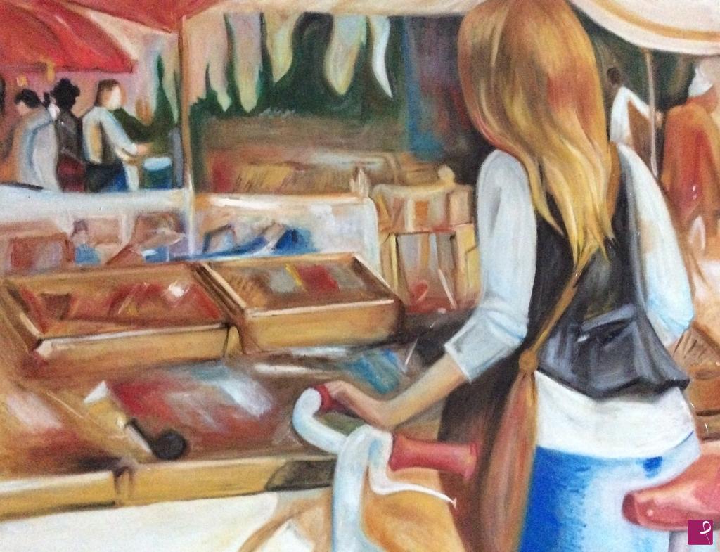 Vendita quadro donna al mercato emmegi pitturiamo