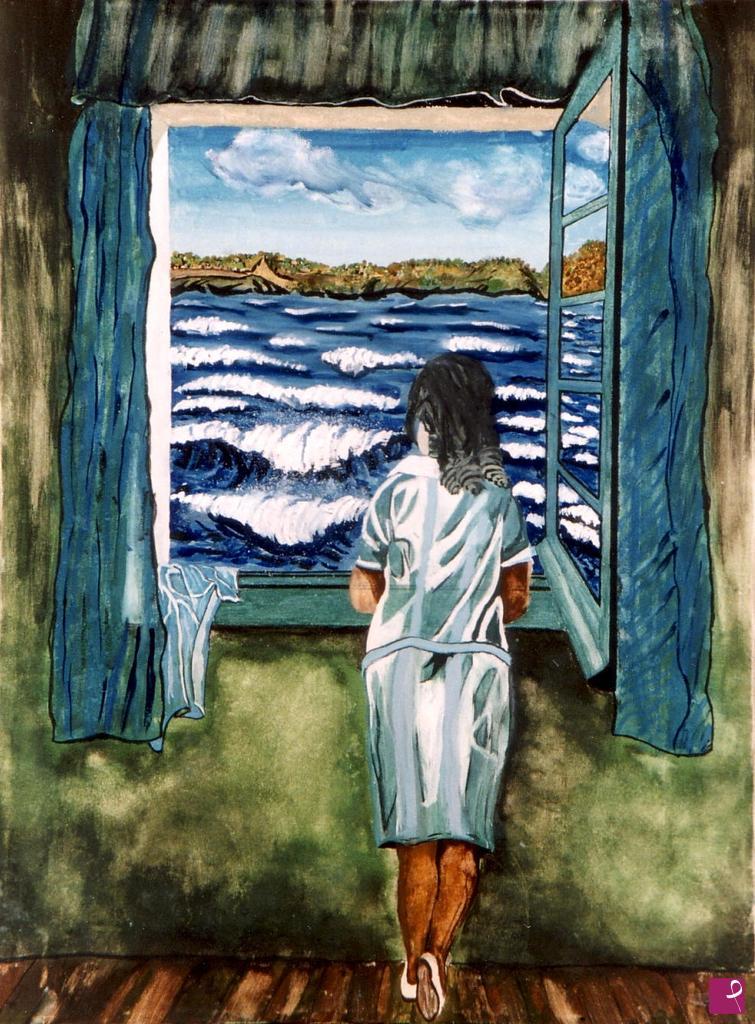 Vendita quadro donna alla finestra accar pitturiamo for Ragazza alla finestra quadro