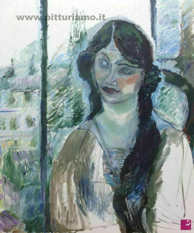 Vendita quadro donna alla finestra emanuela celleghin for Ragazza alla finestra quadro