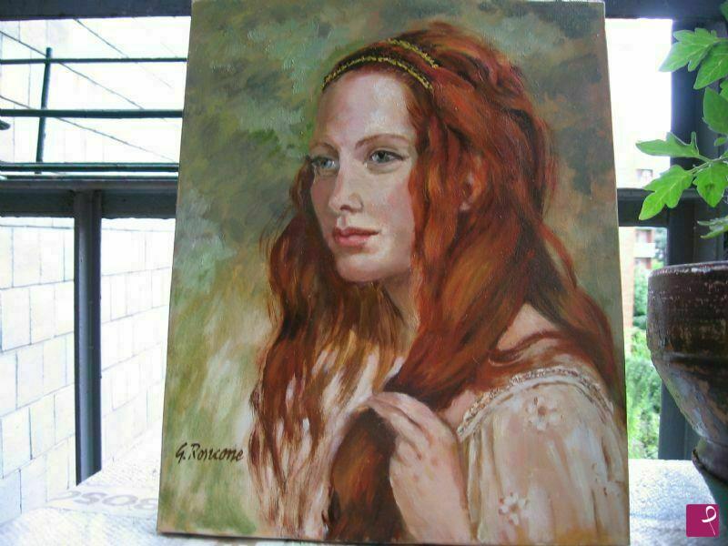 disponibile quadro - donna con capelli rossi - Giovanna ...