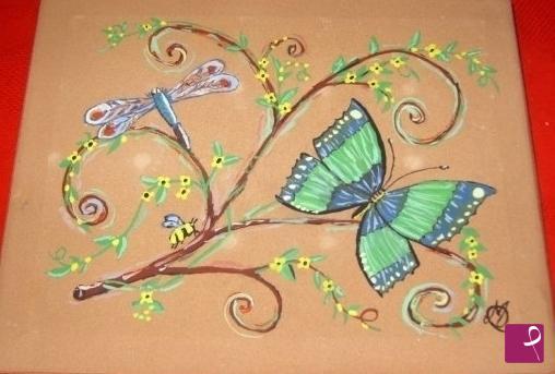 Vendita quadro farfalla & libellula mary pitturiamo®