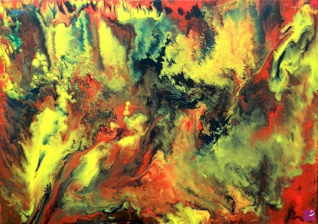 Vendita quadro fiamme eteree federica e loris pitturiamo
