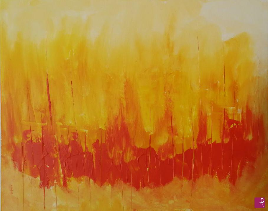 Vendita quadro fiamme francesca siniscalchi pitturiamo