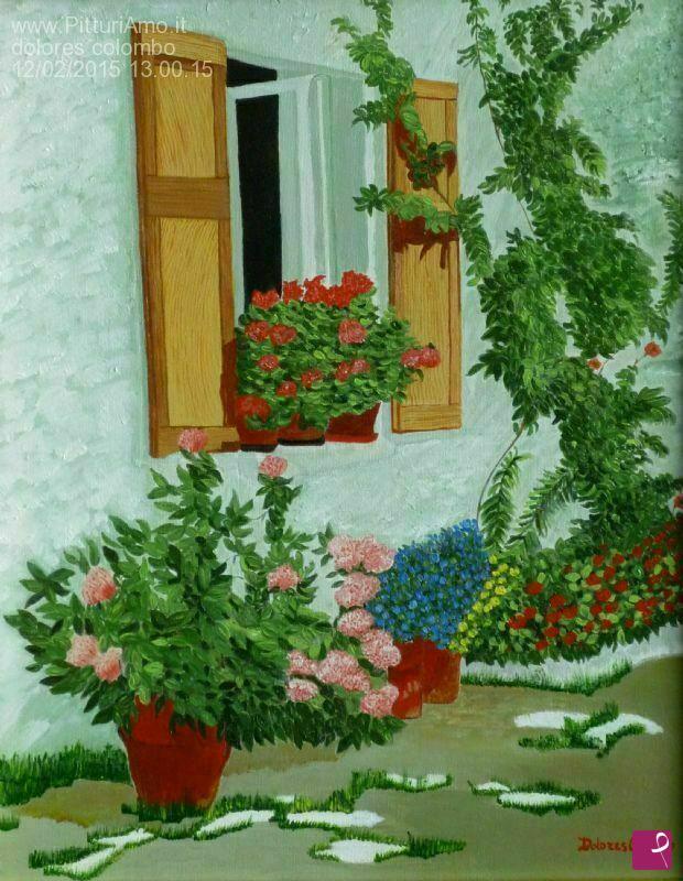 Vendita quadro finestra sul giardino dolores colombo pitturiamo - La finestra sul giardino ...