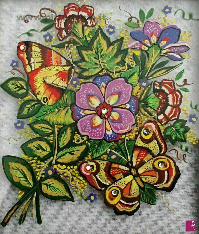 Vendita quadro fiori con farfalle tiziana pantalone for Quadri fiori secchi vendita