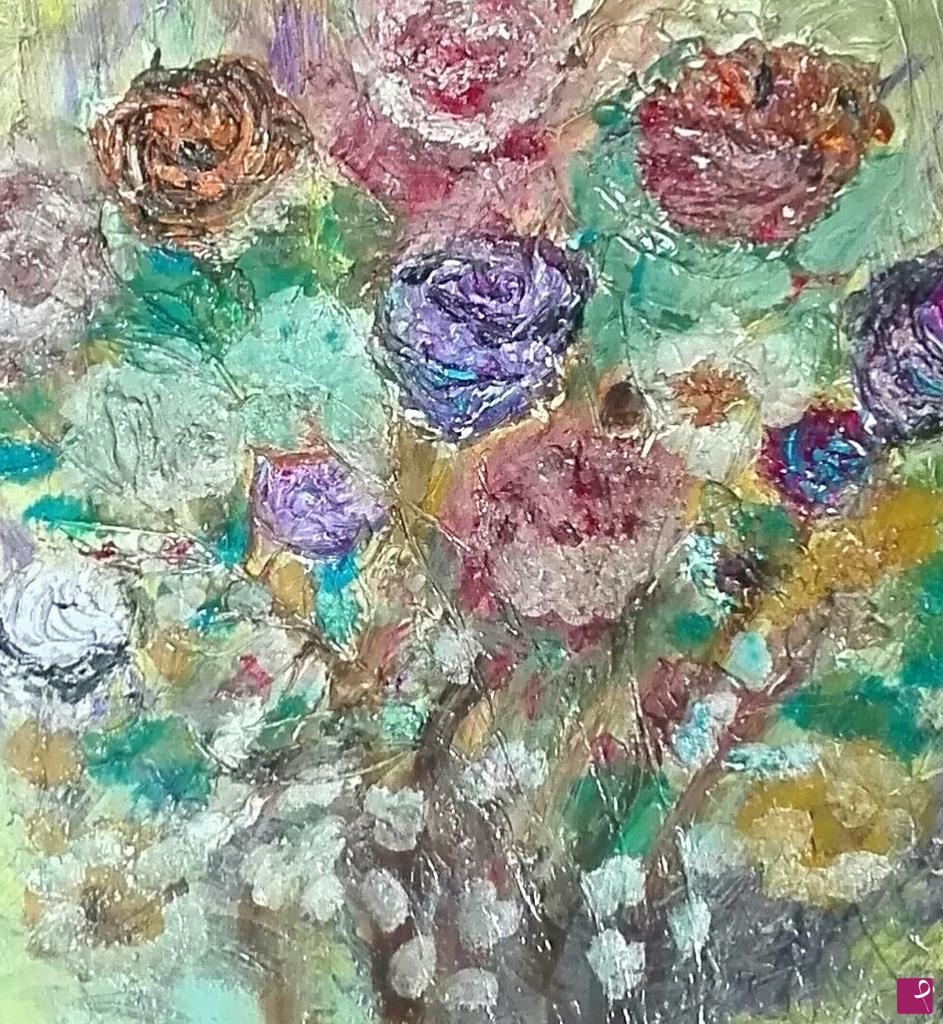 disponibile quadro - Fiori d\'autunno - olio 51x55 pittura in ...