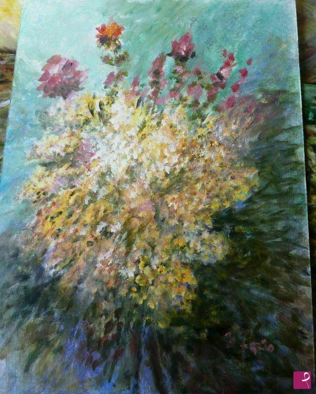 Vendita quadro fiori di campagna nunzio fazio for Quadri fiori secchi vendita