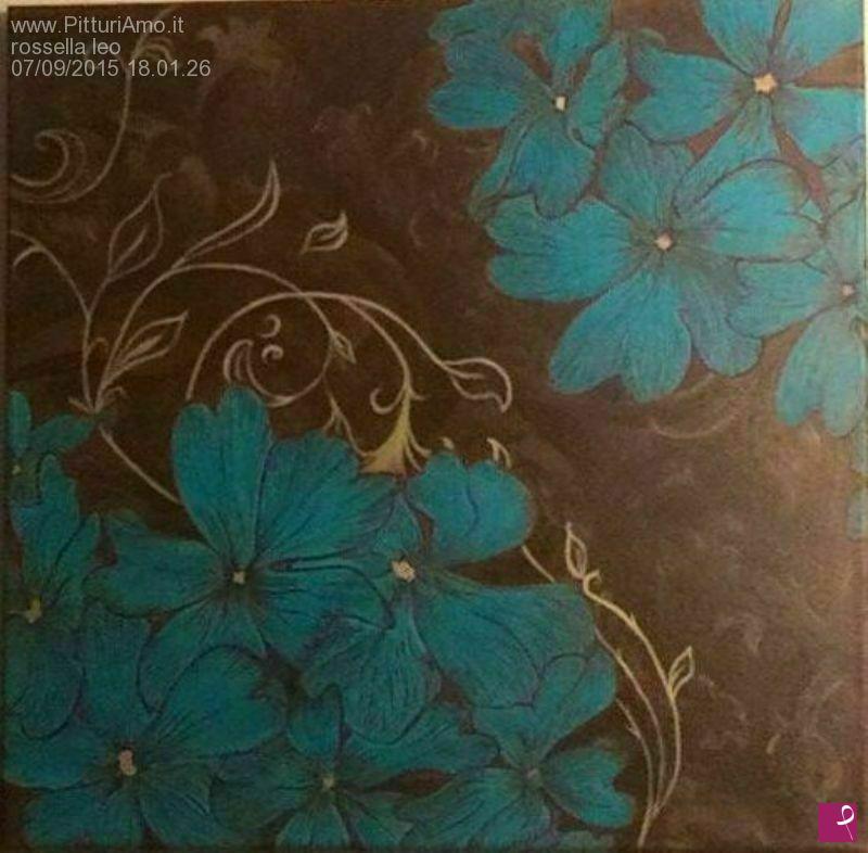 Vendita quadro fiori stilizzati rossella leo pitturiamo for Quadri fiori stilizzati