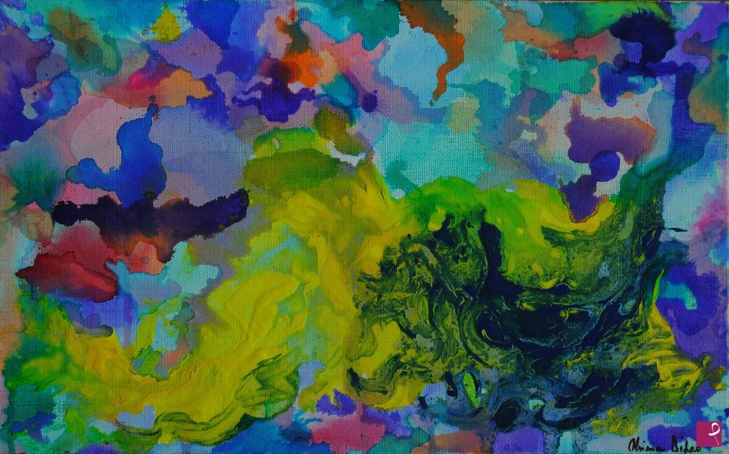 Vendita quadro presenze toscane flussi colori e linee