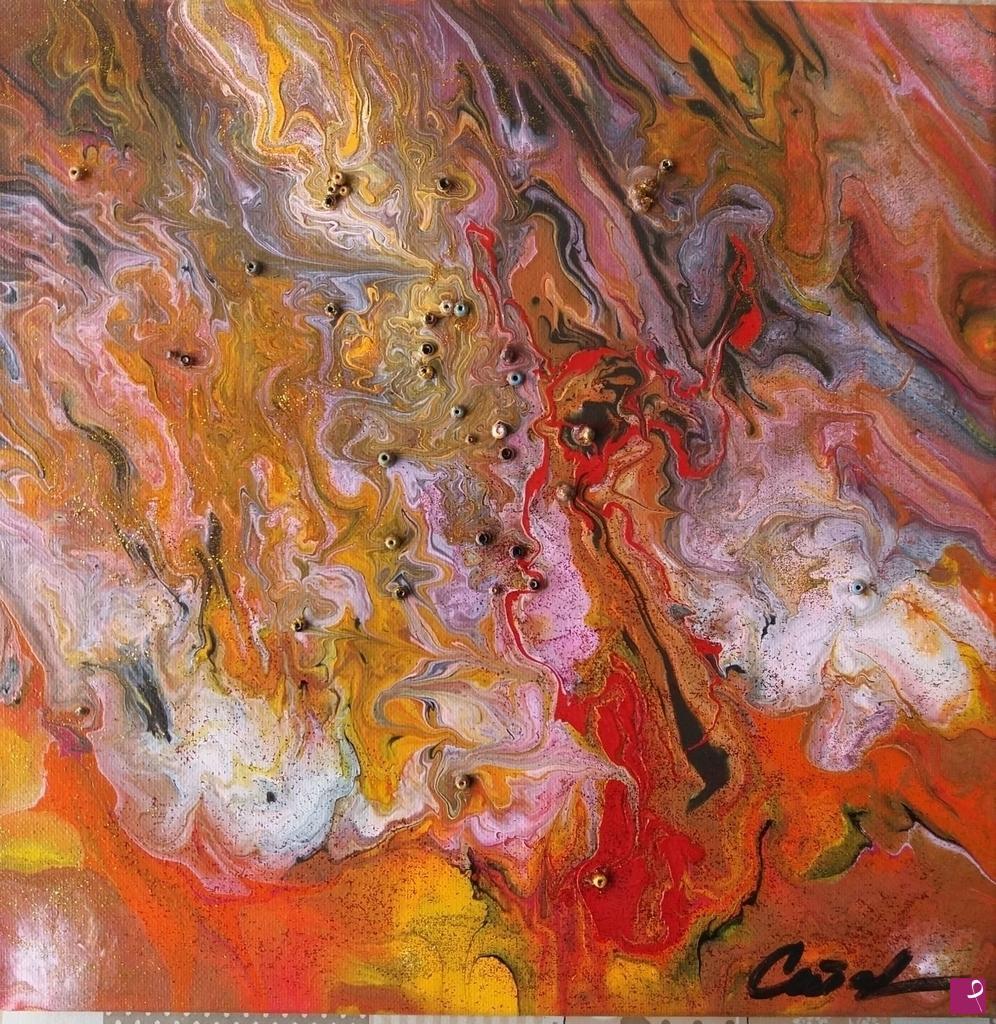 Vendita quadro tempesta elettromagnetica dipinto originale