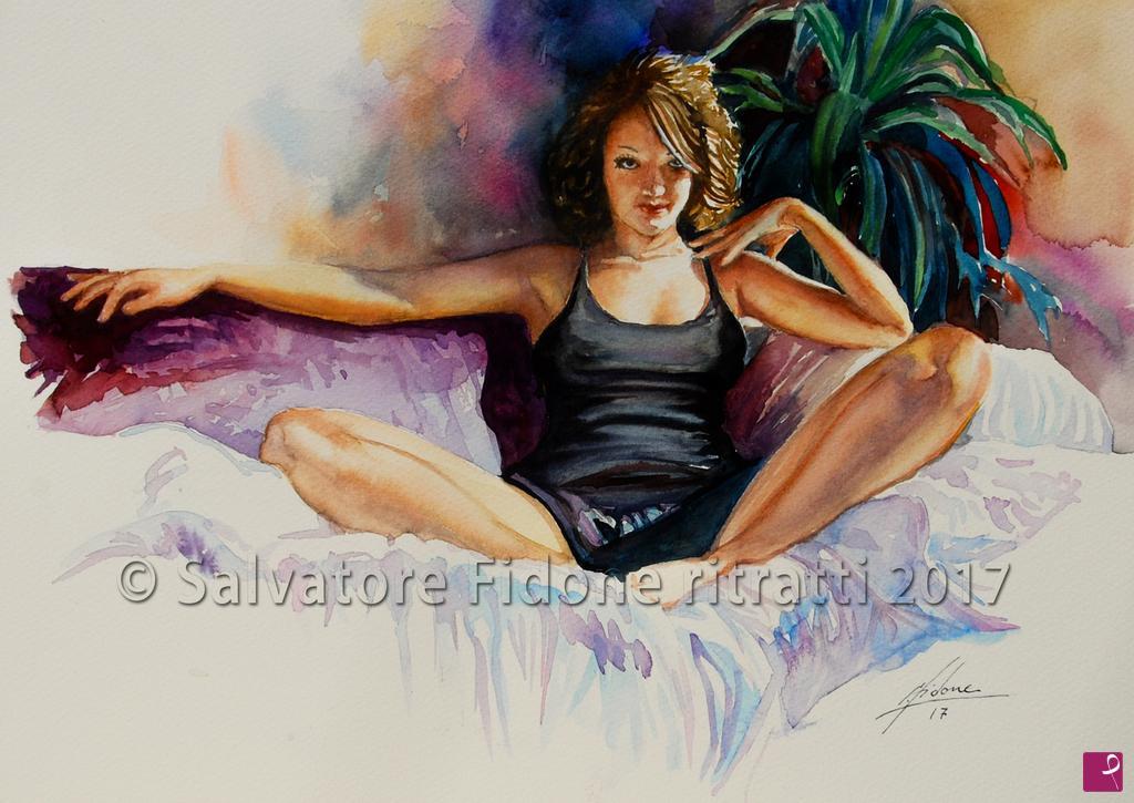 Quadro su tela arabesco sensuale donne gente quadri
