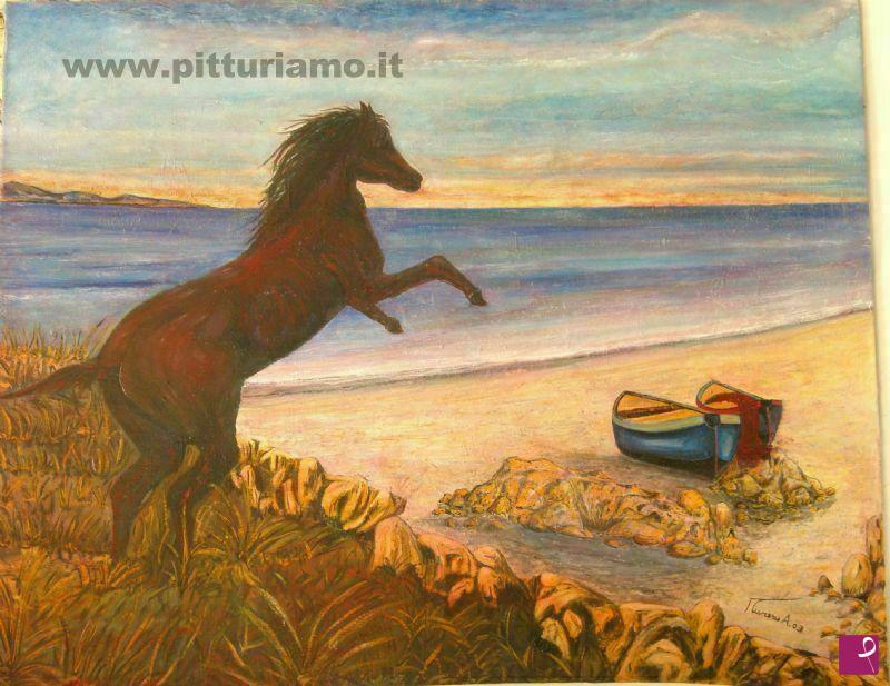 Vendita quadro il cavallo antonio muresu pitturiamo®