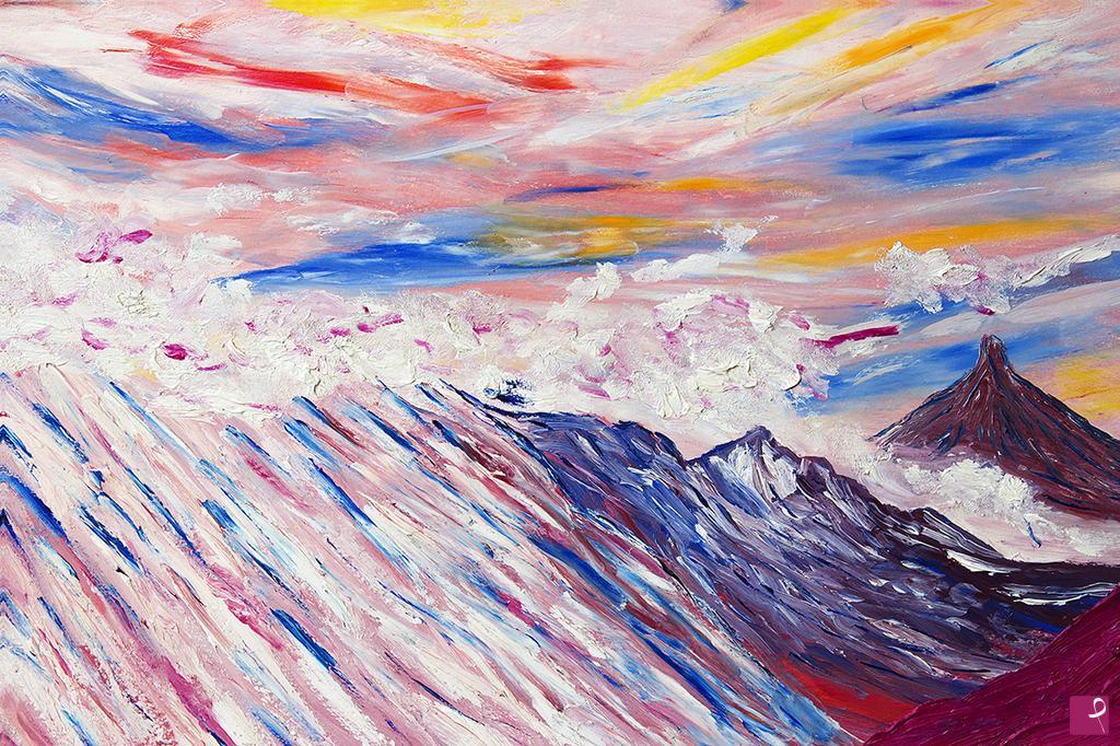 Sgabello Quadro : Vendita quadro il cielo è il mio trono e la terra è lo sgabello