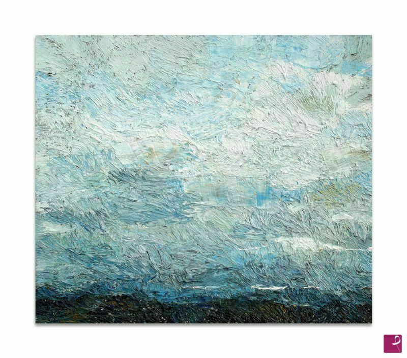 Vendita quadro - Il cielo, quadro astratto moderno olio su tela ...