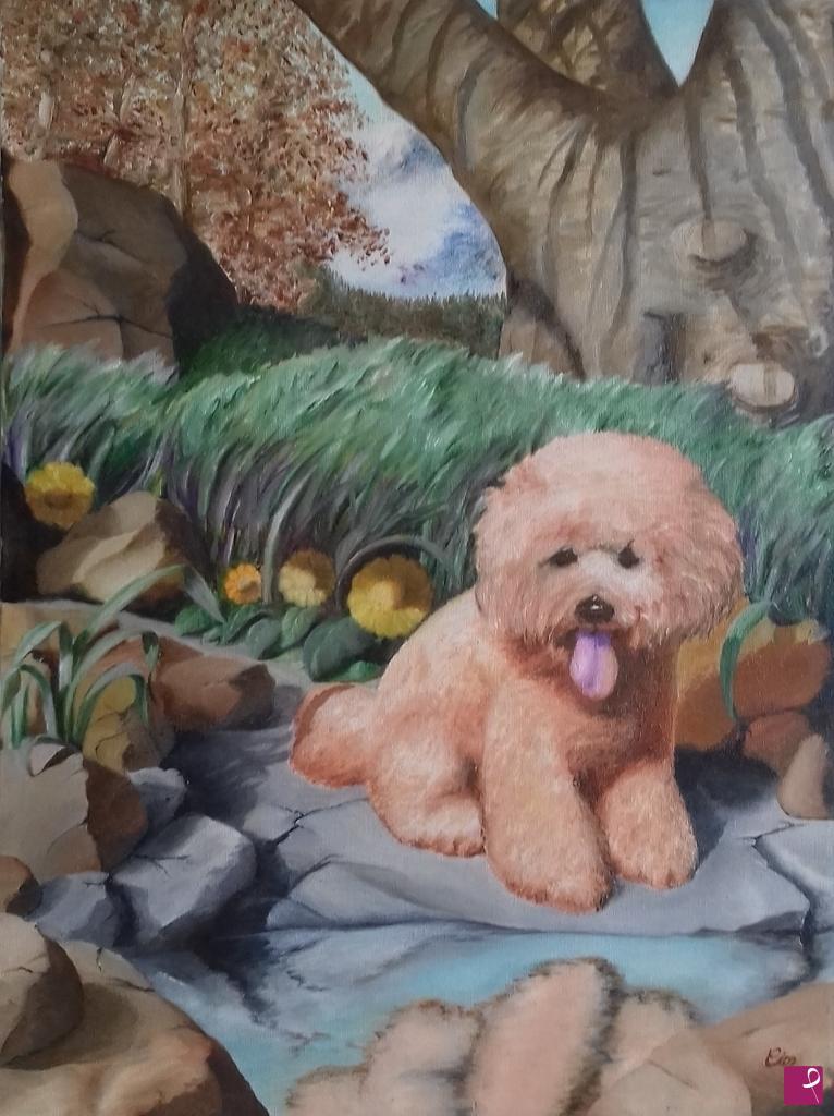 collezione privata quadro - Il cucciolo - Uncle Cyrus