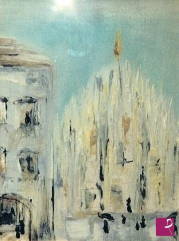 Vendita quadro - Il Duomo di Milano sotto la pioggia - Laura ...