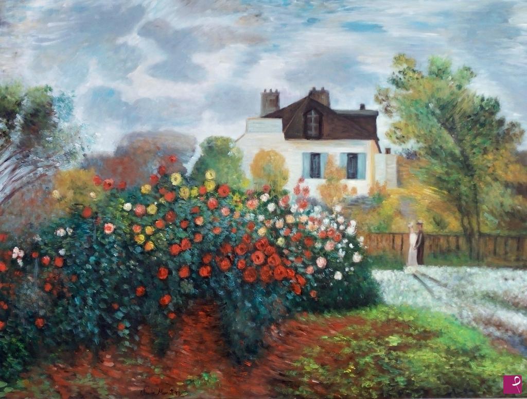 Vendita quadro il giardino di monet ad argenteuil - Il giardino di monet ...