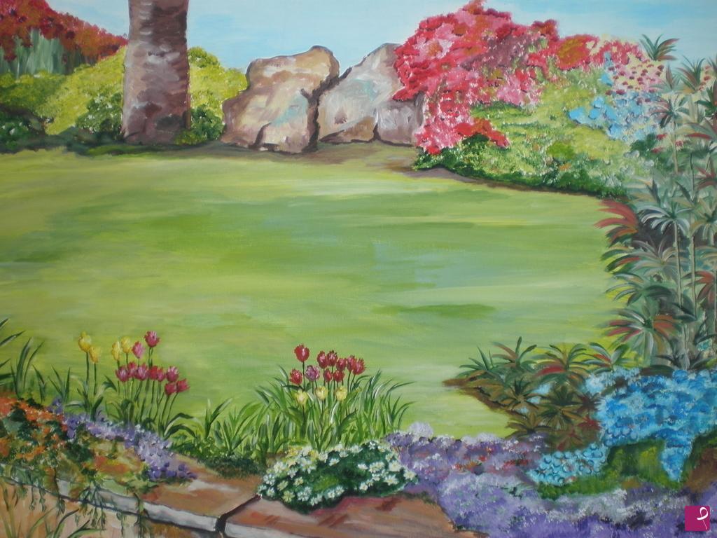 Vendita quadro il giardino segreto dana pitturiamo®
