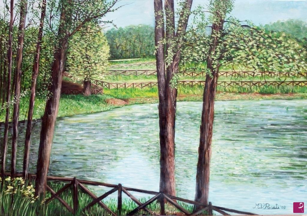 Vendita quadro il lago della foresta umbra puglia maria