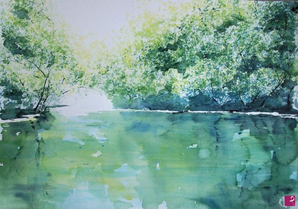 Vendita quadro il lago d estate svetlana korshunkova pitturiamo