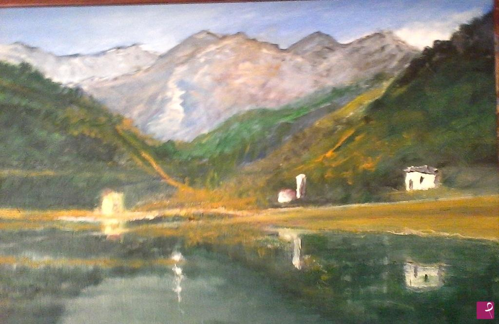 Vendita quadro il lago di barcis vincenzo petracca pitturiamo