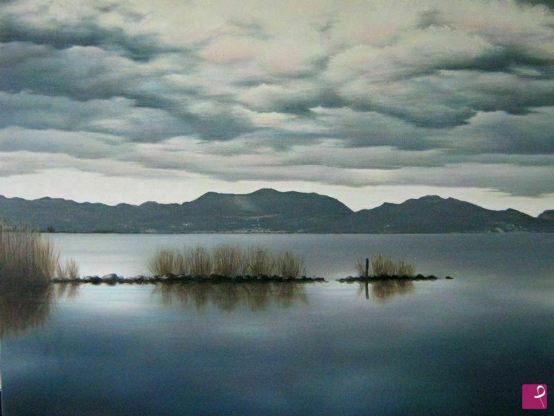 Vendita quadro il lago di massaciuccoli marco trogi pitturiamo