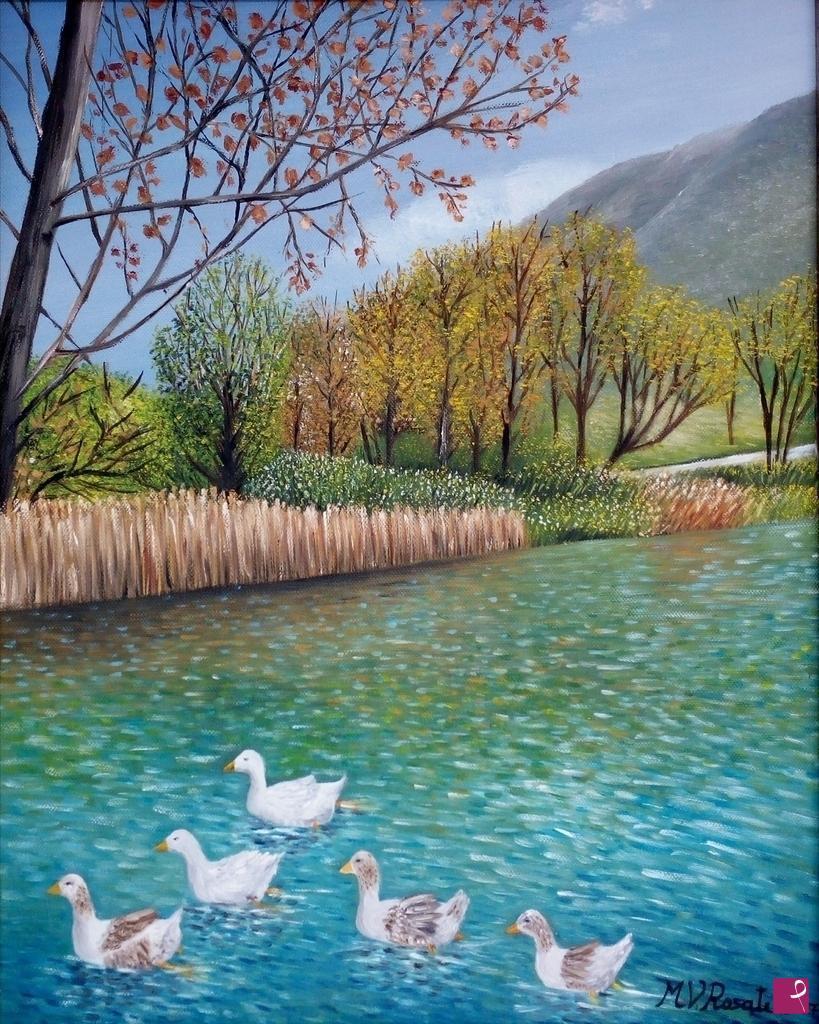 Vendita quadro il lago di paterno abruzzo maria for Lago in vendita