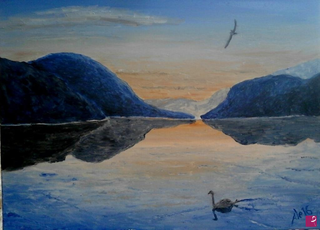 Vendita quadro il lago dorta alessandro beltrami pitturiamo®