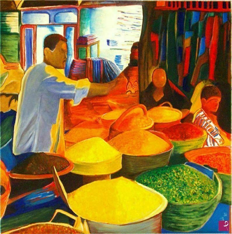 disponibile quadro - Il mercato egiziano - Antonino ...